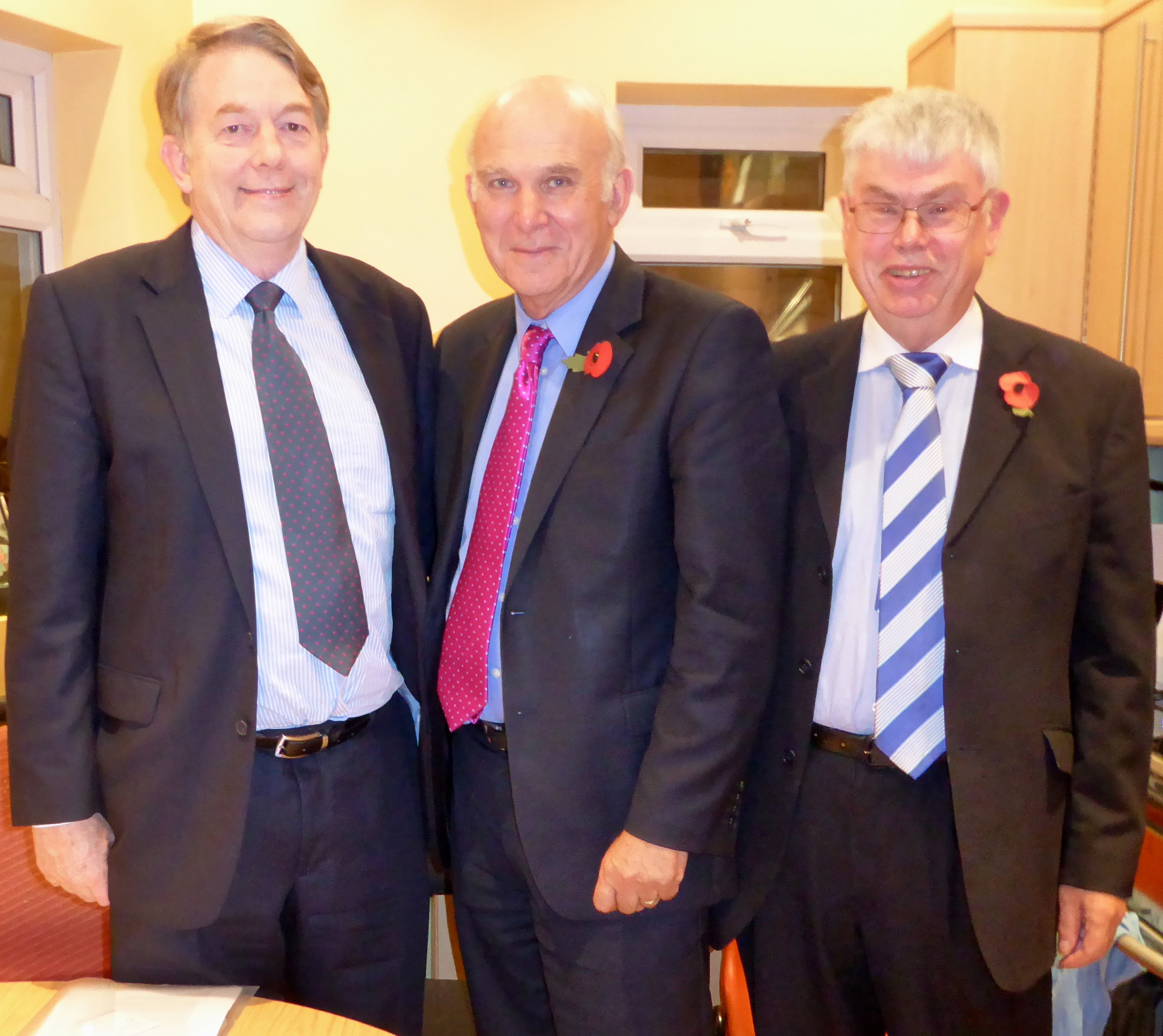 CE and OB with Dr Vince Cable